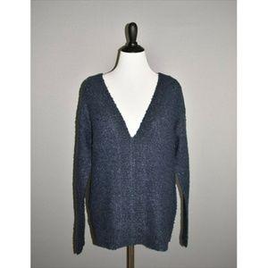 FRANCESCA'S ALYA Plunging V Neck Sweater